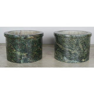 French Green Marble Cachepots - A Pair Preview
