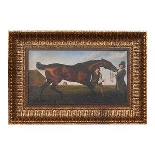 Hambeltonian, Rubbing Down by George Stubbs Fine Art Print on Archival Canvas, Framed For Sale