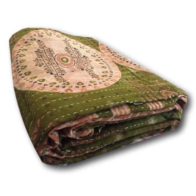 Boho Chic Vintage Kantha Quilt - Image 2 of 4