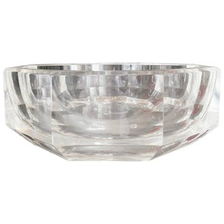 Extra Large Faceted Lucite Bowl, Circa 1970s For Sale