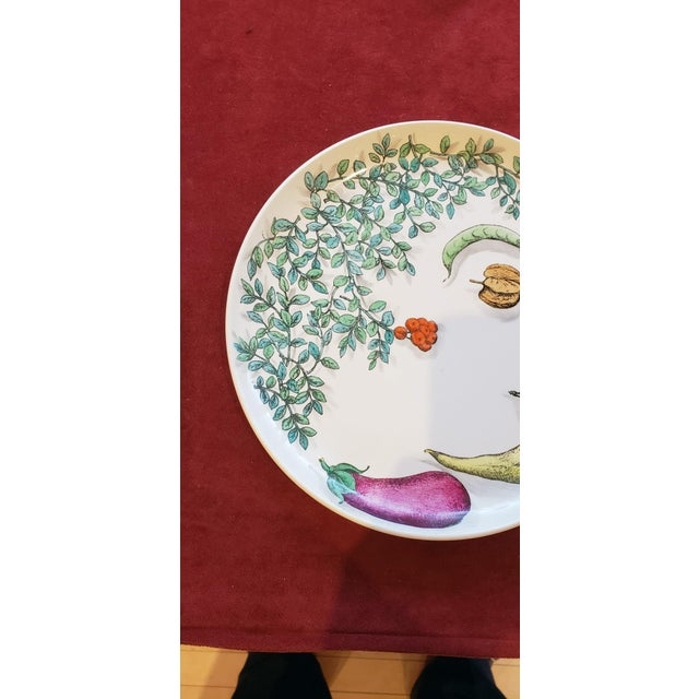 Illustration Piero Fornasetti Pottery Vegetalia Plate, #9 Rutino, 1950s. For Sale - Image 3 of 7