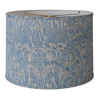 Fortuny Blue Drum Lampshade For Sale