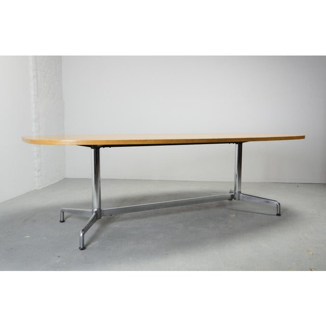 Mid-Century Modern Large Mid-Century Design Eames Conference Dining Table for Herman Miller, Usa, 1960s For Sale - Image 3 of 11