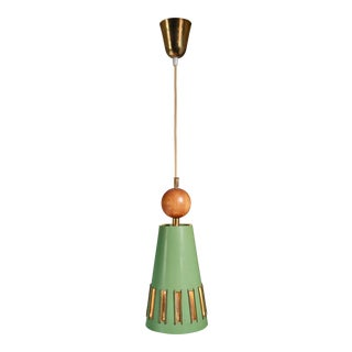 Rare Green Paavo Tynell Chandelier for Idman, 1940s For Sale