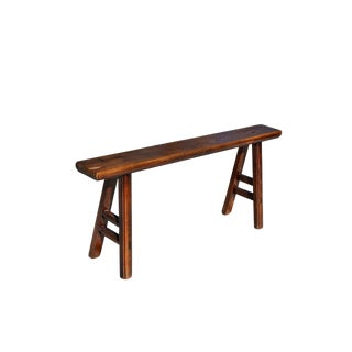 Antique Kung Fu Butterfly Joint Bench