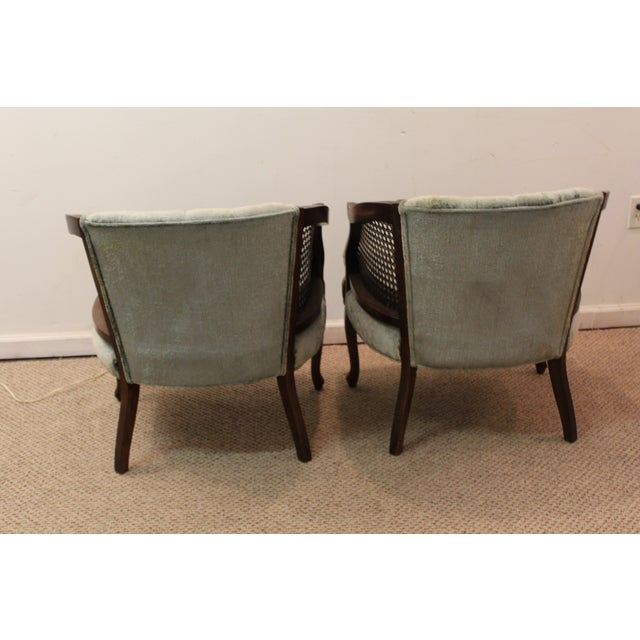Cane & Tufted-Back Ladies Chairs - A Pair - Image 9 of 10