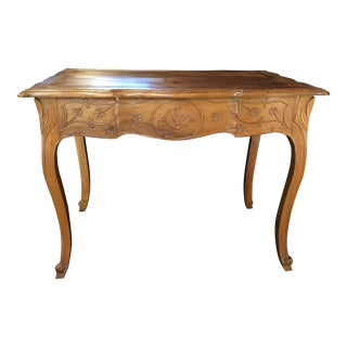 Carved 19th Century Country French Writing Table Desk or Side Table For Sale