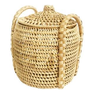Vintage Lidded Basket Jar