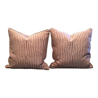 Calvin Klein Fabric Decorative Pillows - A Pair For Sale