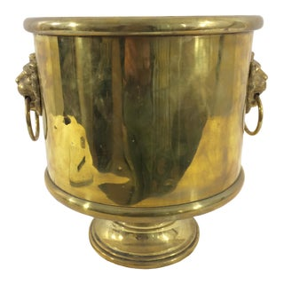 Brass Planter with Lion's Heads
