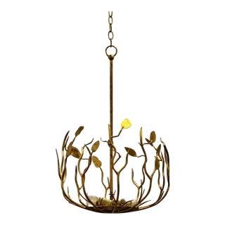 Arteriors Organic Modern Uptown Gold Iron Pendant For Sale
