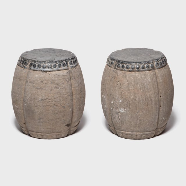 Chinese Clover Form Stone Drum For Sale In Chicago - Image 6 of 8