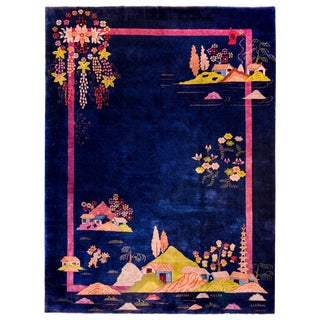Gorgeous Chinese Art Deco Rug For Sale