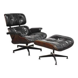 Original Herman Miller Eames Lounge Chair & Ottoman