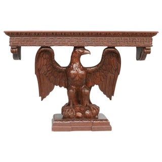 American Neoclassical Hand-Carved Eagle Console Table For Sale