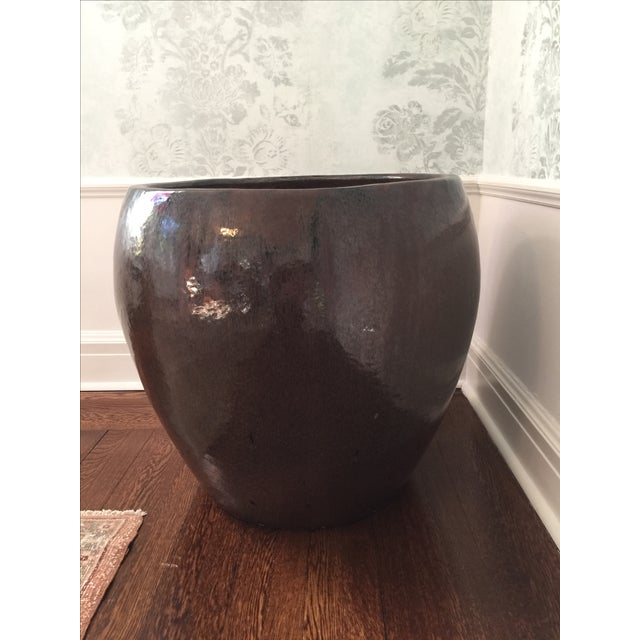 Large Glazed Ceramic Architectural Pot - Image 2 of 4