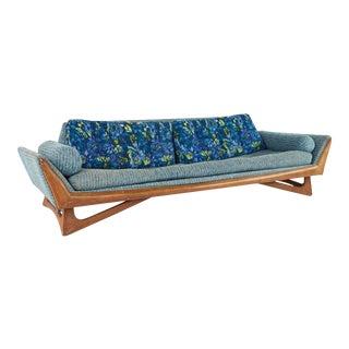 Adrian Pearsall for Craft Associates Mid Century Walnut Gondola Sofa For Sale