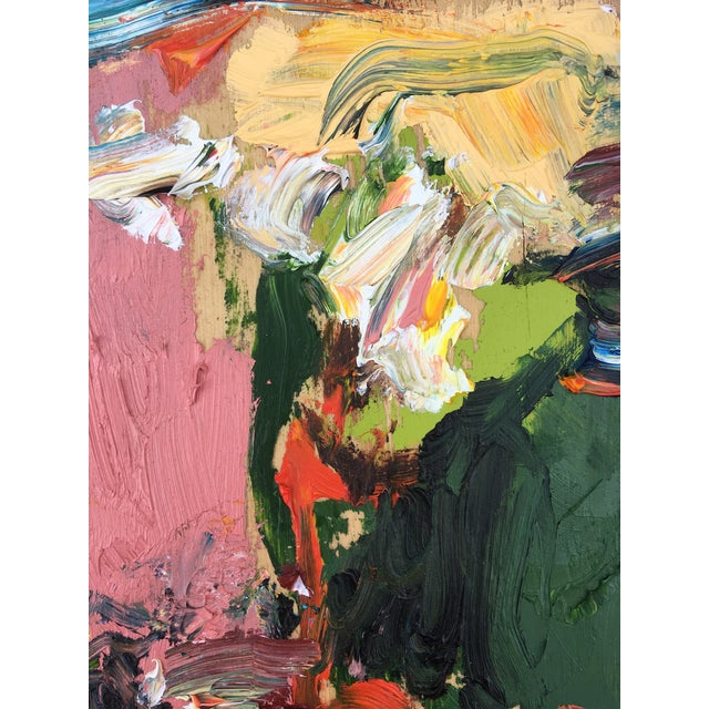 Abstract Sean Kratzert 'Mountainside' Oil Painting For Sale - Image 3 of 5