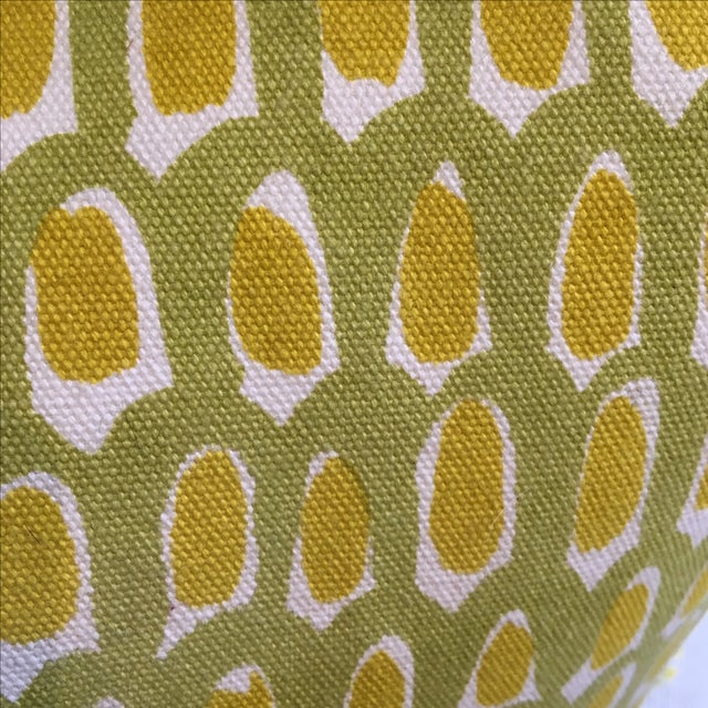 Green and Yellow Cotton Canvas Pillow - Image 5 of 6