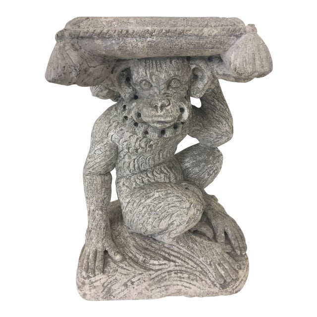 1960s American Classical Cement Monkey Motife Drinks Table For Sale