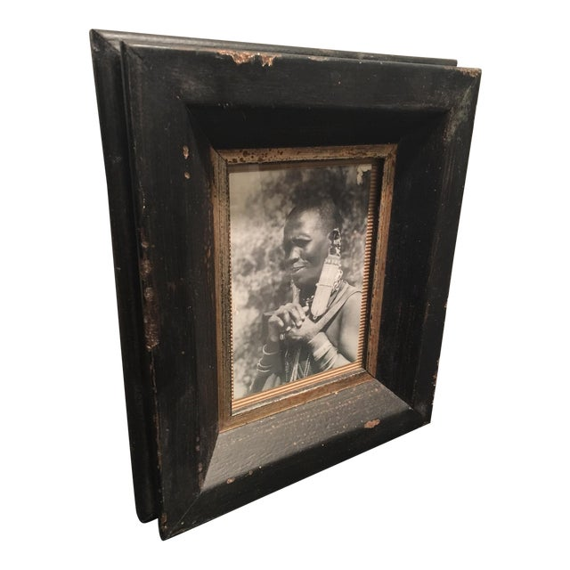 Dark Aged Frame with Photo - Image 1 of 5
