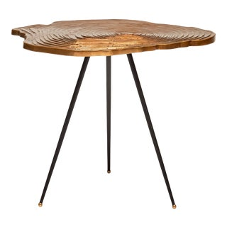 Charlee End Table, Brass For Sale