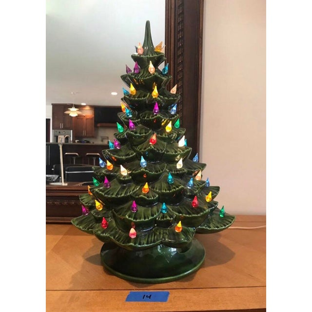 Ceramic Christmas Tree Vintage.Vintage Ceramic Christmas Tree