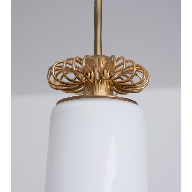 Brass and Glass Pendant Model K2-20 by Paavo Tynell for Idman, Finland 1950s For Sale In Santa Fe - Image 6 of 7