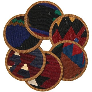 Rug & Relic Kilim Coasters, Amasya - 6 For Sale