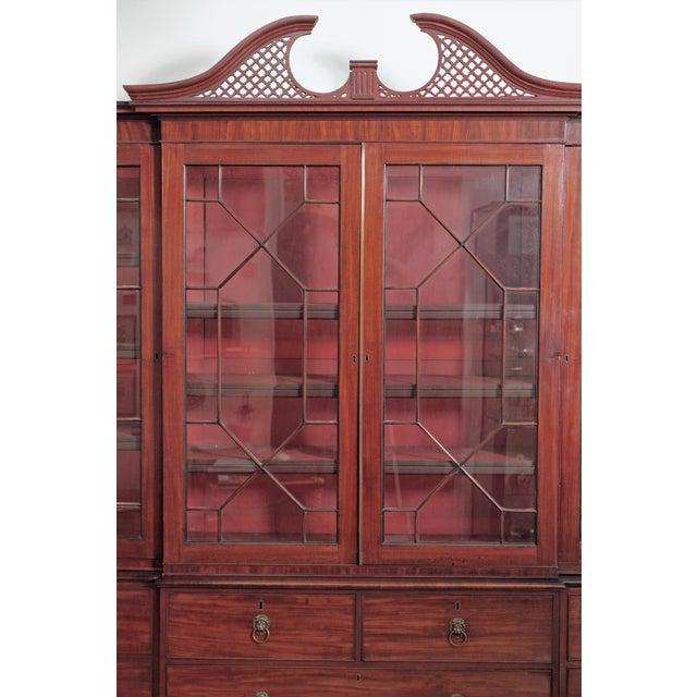 Elegant Period George III Mahogany Breakfront Bookcase - Image 2 of 11