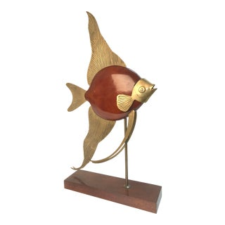 Mid-Century Modern Angel Fish Sculpture For Sale