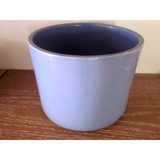 Gainey Ceramics Blue Architectural Pottery Planter For Sale In Phoenix - Image 6 of 11