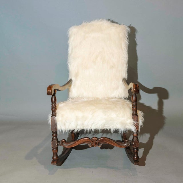 Vintage Traditional Curated French Rocker Chair For Sale - Image 4 of 6