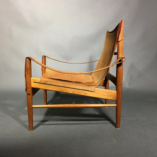 "A rather chic version of Safari Chairs by Hans Olsen named ""Antilop"" and made by Viskadalens Möbler in Sweden in the..."