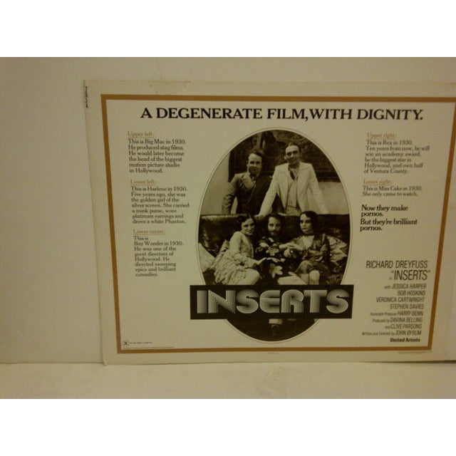 """Mid-Century Modern Vintage Movie Poster """"Inserts"""" 1976 For Sale - Image 3 of 5"""