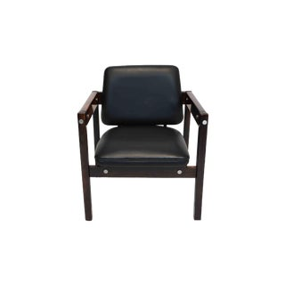 Armchair in Wood and Leather by Sergio Rodrigues, Circa 1960 For Sale