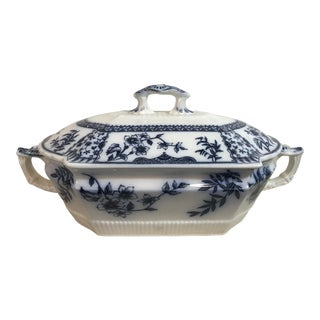 Ridgways Blue & White Tureen For Sale
