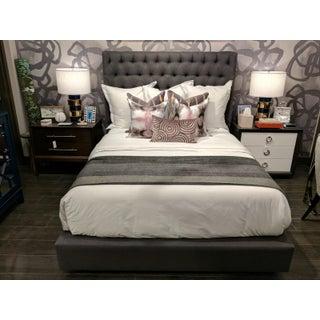 Queen Grey Diamond-Tufted Bedframe Preview