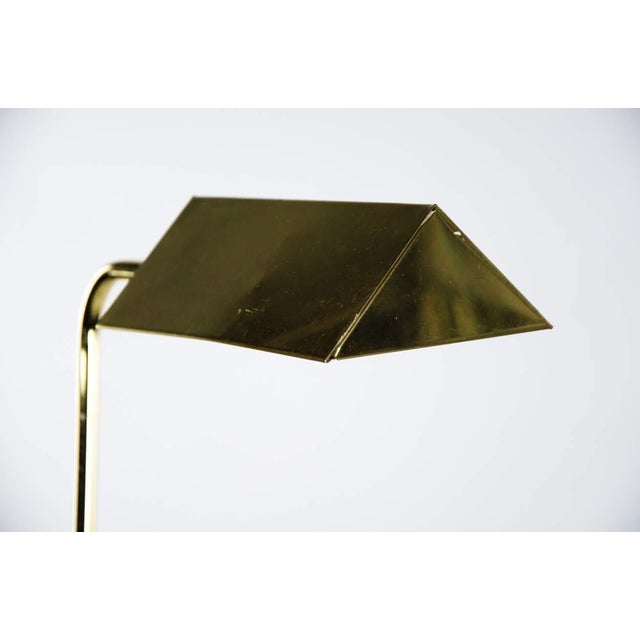 Mid Century Modern Style Brass Adjustable Reading Floor Lamp For Sale In Atlanta - Image 6 of 13