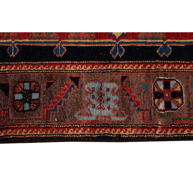 Red Mid-20th Century Vintage Wool Rug 4' 5'' X 8' 8''. For Sale - Image 8 of 13