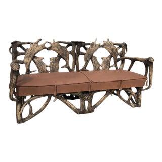 1990s Vintage Moose Antler Sofa For Sale
