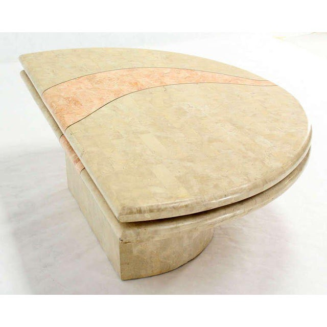 Early 20th Century Revolving Expandable Tessellated-Top Round Coffee Table For Sale - Image 5 of 10