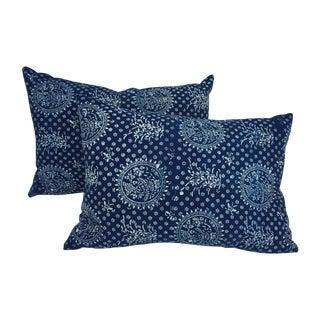 Indigo Batik Pillows- A Pair