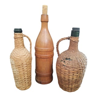 Collection of Vintage French Bottles - Set of 3 For Sale