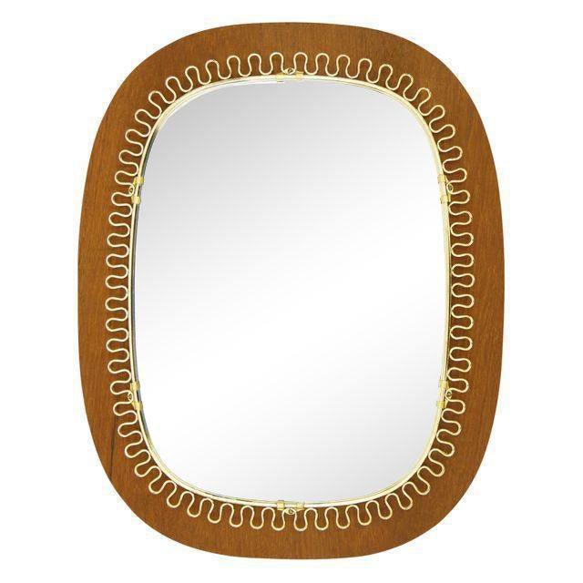 Josef Frank Brass and Teak Mirror, circa 1960 For Sale - Image 9 of 9
