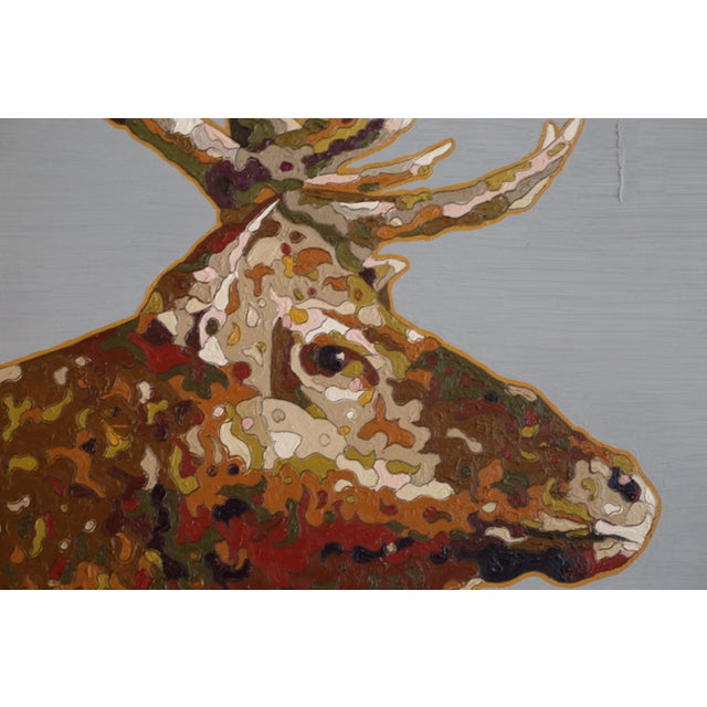 """Tule Elk"" Oil on Board 2017 For Sale In San Francisco - Image 6 of 7"