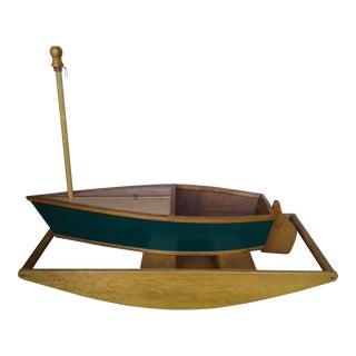 Wooden Children's Rocking Boat