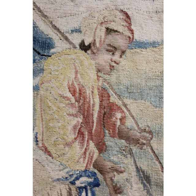 Late 18th Century Aubusson Landscape Tapestry For Sale - Image 5 of 9