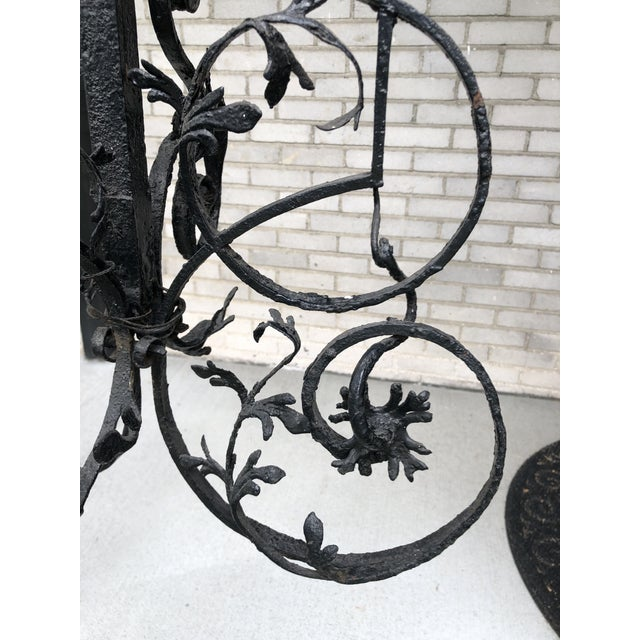 16th Century Continental Hand Forged Wrought Iron Cremaillere Kitchen Tool Holder For Sale In Minneapolis - Image 6 of 13