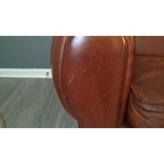 """Restoration Hardware Restoration Hardware """"Parisian"""" Leather Sofa For Sale - Image 4 of 6"""